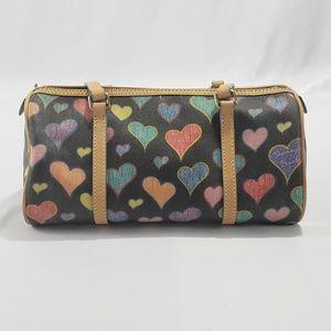 Vintage Dooney & Bourke Heart Shoulder Bag Purse